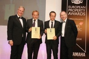 Home Hunts directors Francois-Xavier de Vial and Tim Swannie receiving the awards