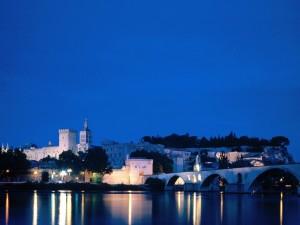 Bridge on the River Rhone,  Avignon, Vaucluse, France