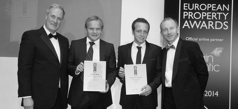 Tim and Francois collecting our awards in 2014