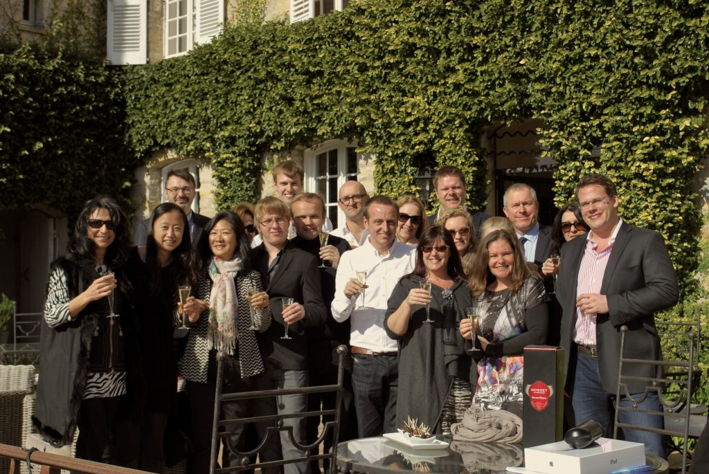 Some of the Home Hunts team at a recent company lunch on the French Riviera