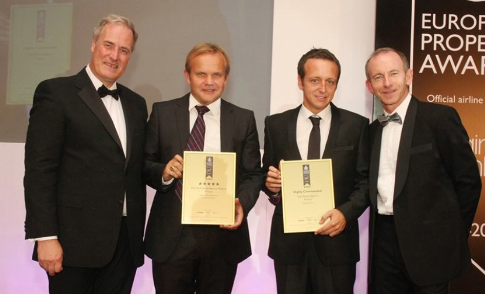 Home Hunts directors Francois-Xavier and Tim at the European Property Awards