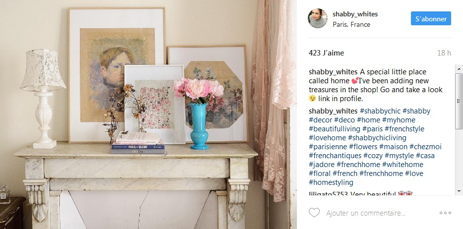 Inspiring french home design instagram profiles home for Shabby chic instagram