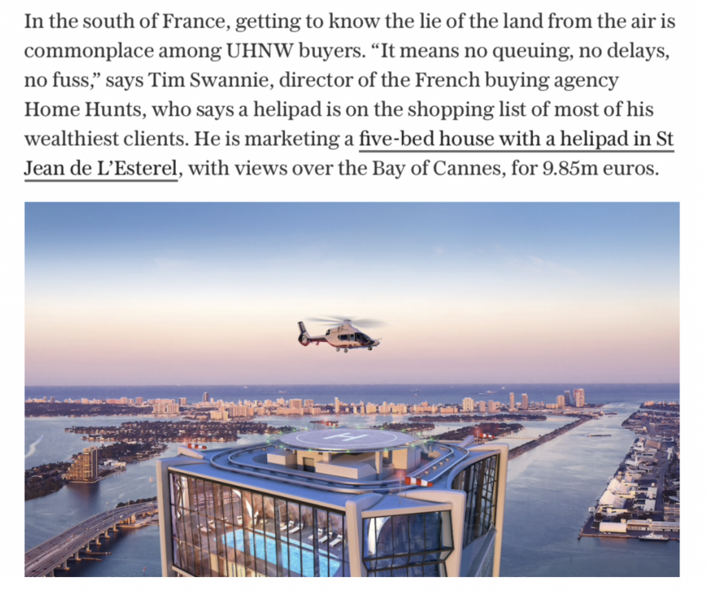 property viewing by helicopter